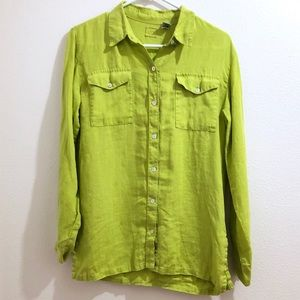 Chico's Lime Green Button Down Shirt